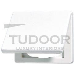Крышка откидная для штепсельных розеток и изделий с платой 50*50 мм; белая