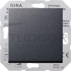 Светорегулятор клавишный универсальный 50-420 Вт. для ламп накаливания и низковольтн.галог.ламп, пластик антрацит
