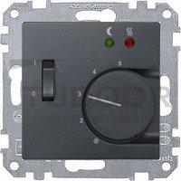 Термостат 230 В~ 8А с выносным датчиком, для электрического подогрева пола, пластик антрацит