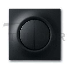 Выключатель двухклавишный с подсветкой, 10 А / 250 В, черный бархат