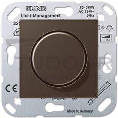 Светорегулятор поворотный 20-525 Вт. для ламп накаливания и галог.220В, мокко