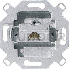 Механизм 1-постовой компьютерной/телефонной розетки UAE, 8 полюсов, RJ45, категория 5е, неэкранированная, до 100 МГц