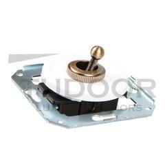 Ретро выключатель тумблерный 2-х позиционный для внутреннего монтажа проходной, белый
