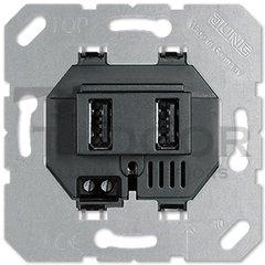 USB розетка, на два гнезда, до 2,1 А/ч