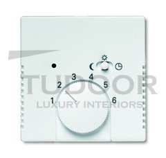 Плата центральная (накладка) для механизма терморегулятора (термостата) 1095 U, 1096 U, серия solo/future, цвет davos/альпийский белый