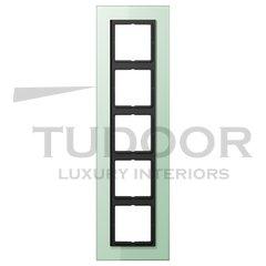 Рамка пятерная, для горизонтального/ вертикального монтажа, матовое стекло