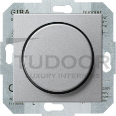 Светорегулятор поворотный 60-400 Вт. для ламп накаливания и галог.220В, пластик под алюминий