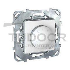 Светорегулятор поворотный 40-400 Вт. для ламп накаливания и галог.220В, пластик белый