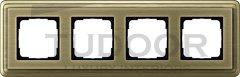Рамка четверная, для горизонтального/вертикального монтажа, бронза