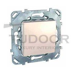 Выключатель одноклавишный, проходной (вкл/выкл с 2-х мест) 10 А / 250 В, пластик кремовый глянцевый