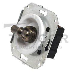 Ретро выключатель поворотный 2-х позиционный для внутреннего монтажа проходной, белый