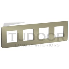 Рамка четверная, для горизонтального/вертикального монтажа, бронза/антрацит