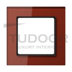 Рамка одинарная, стекло красное глянцевое