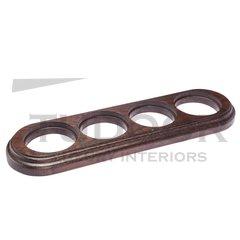 Рамка четверная для механизмов наружного монтажа (овал), венге