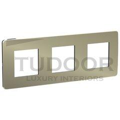Рамка тройная, для горизонтального/вертикального монтажа, бронза/антрацит